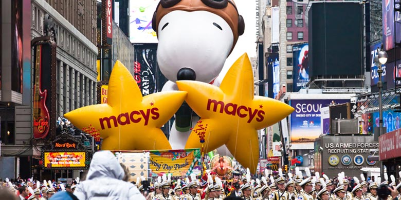 Snoopy on parade.