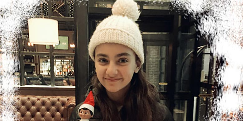 Archer Hotel NY guest, Mirella, found Archie the Elf!