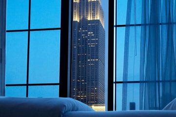 Empire State Building View from the bed at Archer Hotel New York