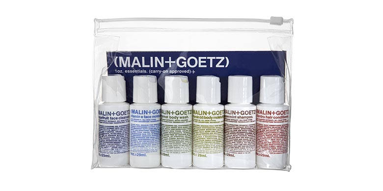 Malin and Goetz essential kit products