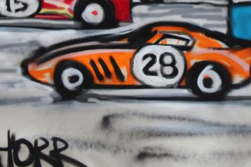 Mitchell Schorr mural of cars