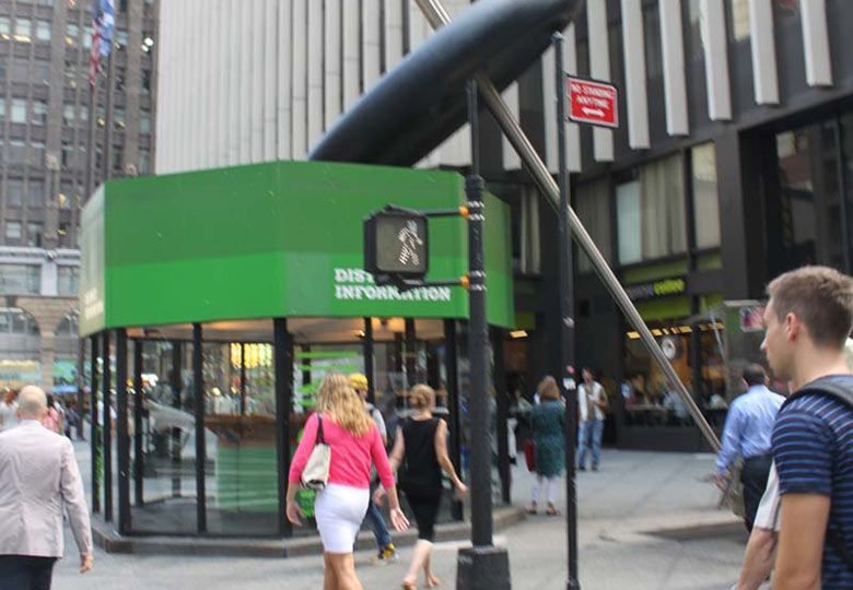 Garment district button and booth