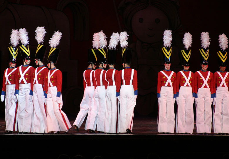 Performers on stage at Radio City Music Hall Spectacular