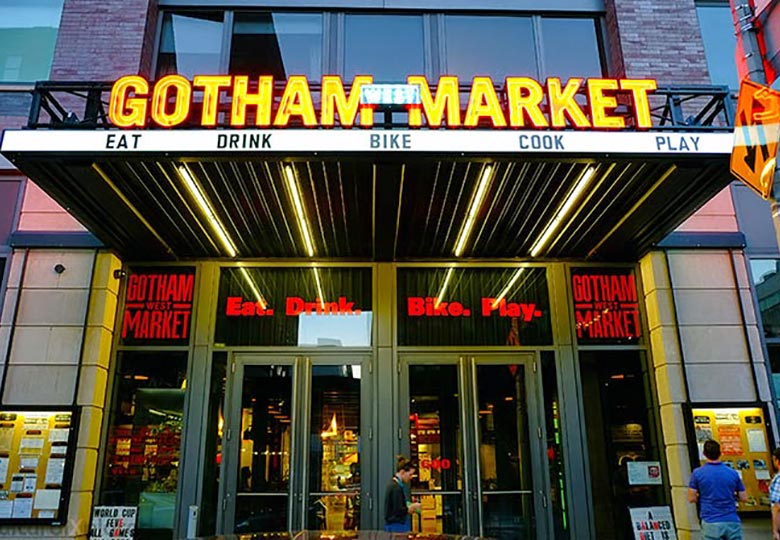 Gotham Market West entrance