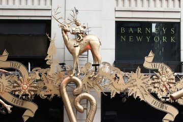 Barney's New York Holiday window decorations
