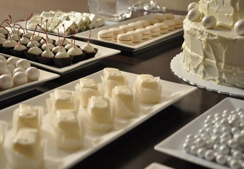 White dessert buffet by Sweet Life in New York