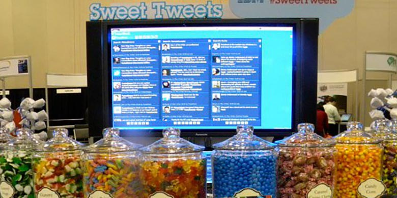 Sweet Tweets Buffet candies in jars