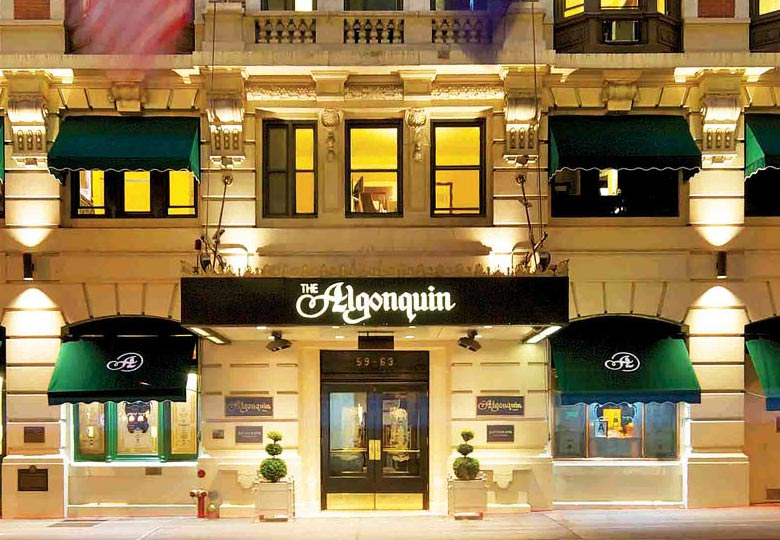 The Algonquin Hotel at night