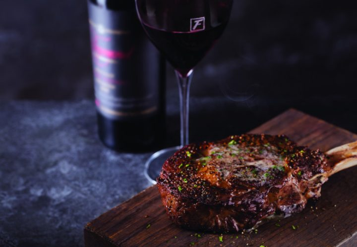 Flemings Bone-In Ribeye with Wine