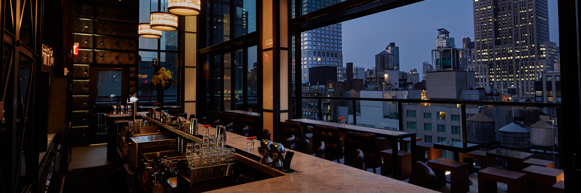 The Bar at Spyglass atop Archer Hotel New York in Midtown