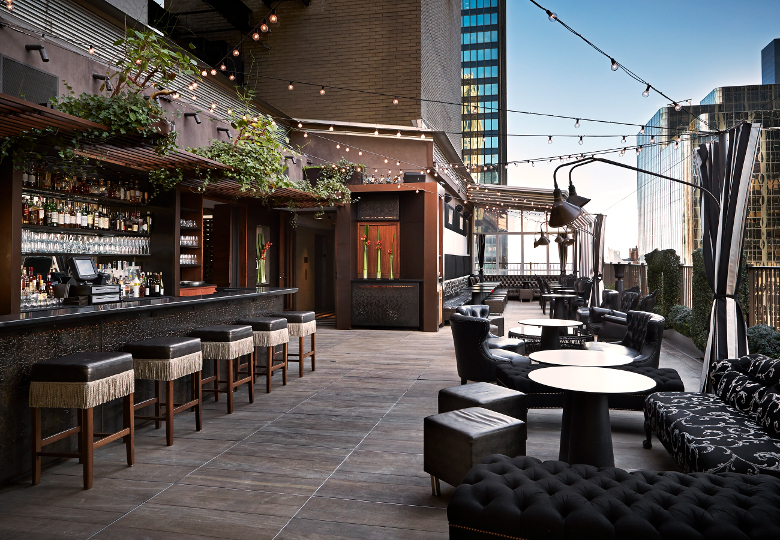 Rooftop Area at Upstairs, Manhattan NY