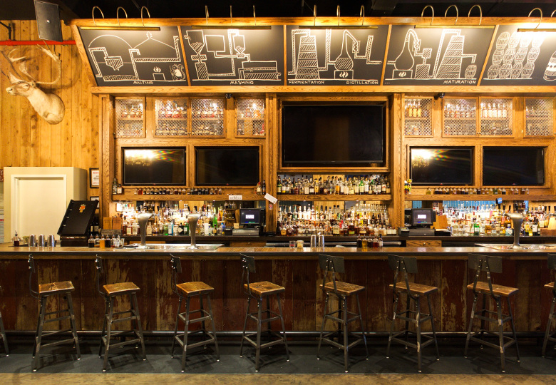 The bar at American Whiskey