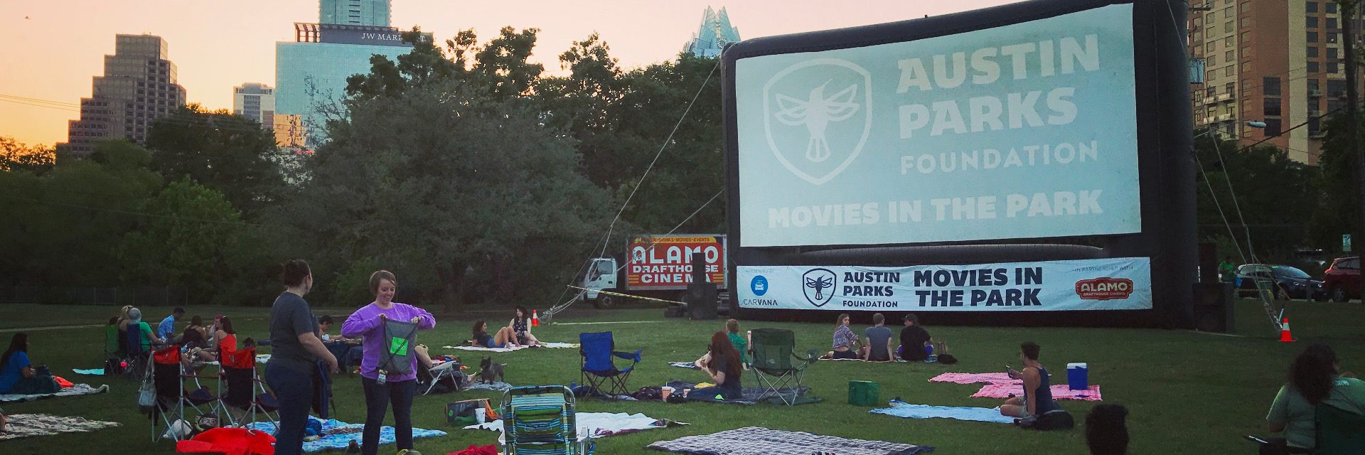 Austin Parks Foundation: Movies in the Park screening is a great way for anyone in Austin to see your favorite movies for free.