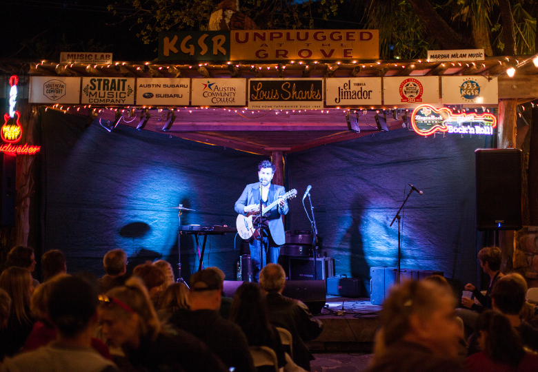 Free concert during Unplugged at the Shady Grove in Austin, TX
