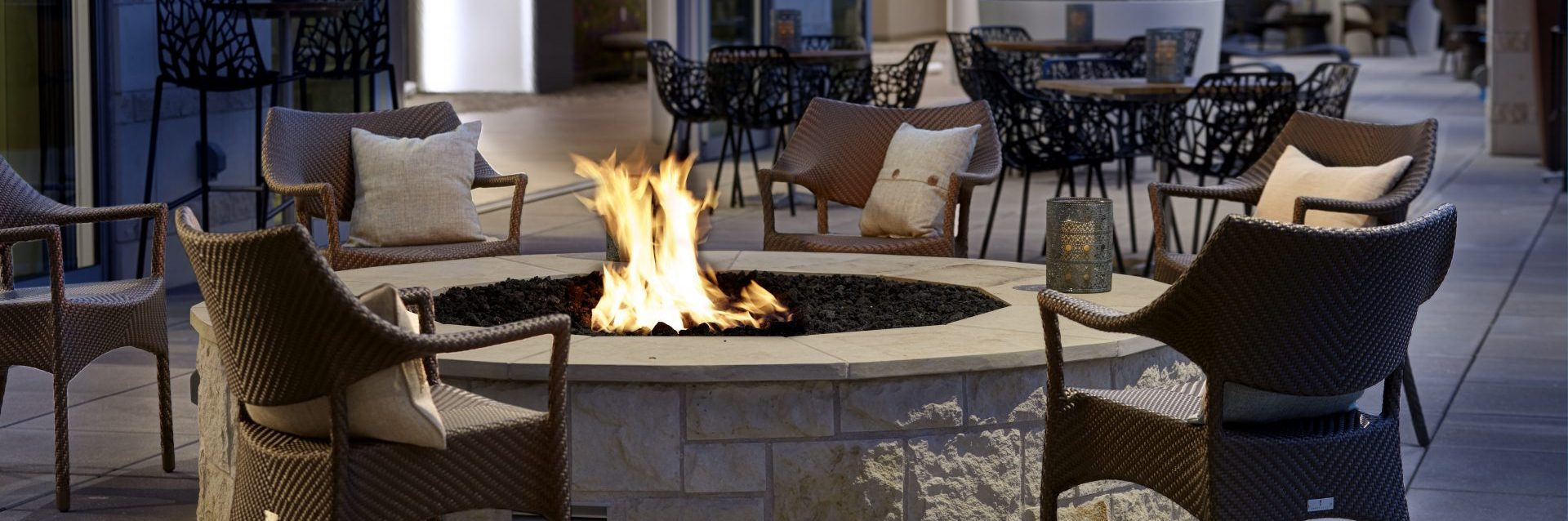 Archer Hotel Austin Second Bar + Kitchen Terrace Fire Pit
