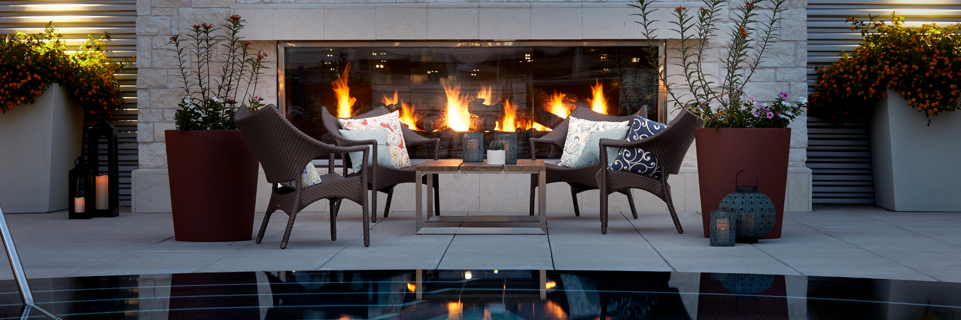 Archer Hotel Austin Pool Patio Fireplace