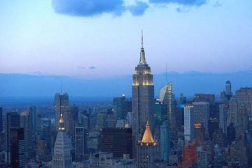 The Empire State Building at dusk