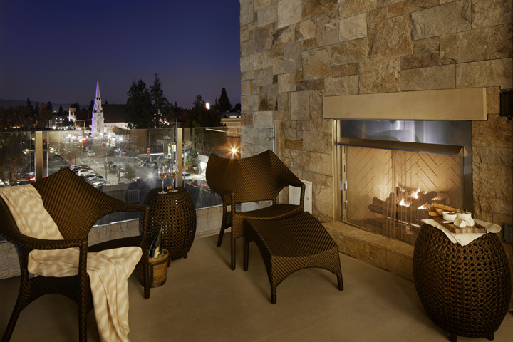 Archer Hotel Napa's balcony experience kindles the romantic fire