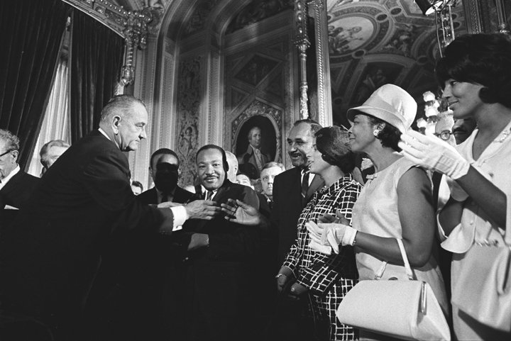 Signing of the Voting Rights Act of 1965 — LBJ Library photo by Yoichi Okamoto | 48 Hours in Austin | Archer Hotel Austin