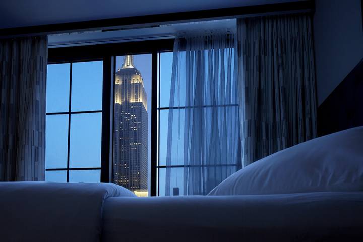 Enjoy an Empire State view from your room in Archer Hotel New York | Romantic Dining in NYC