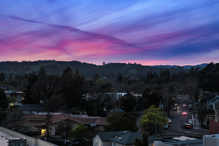 Looking northwest from Sky & Vine | Archer Hotel Napa