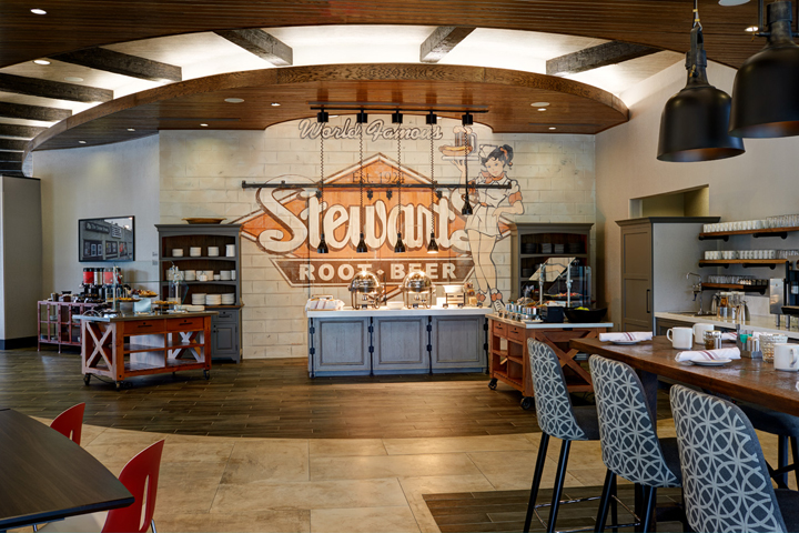 The mural in Archer's Kitchen + Bar | Stewart's Root Beer | Archer Hotel Florham Park