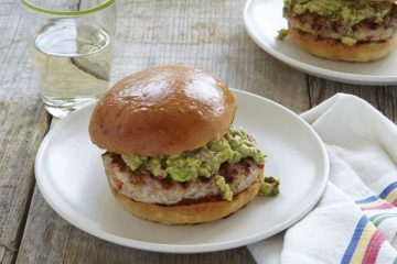Chicken Burgers With Guacamole