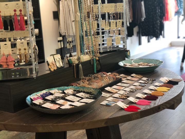 Curated collection of jewelry — photo courtesy of Scout & Molly's Archer Hotel Austin