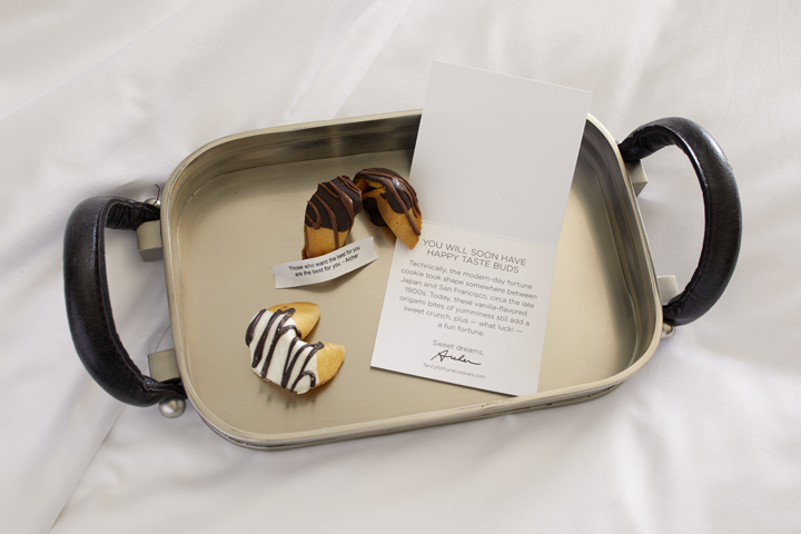 A daily turndown treat + note from Archer | Welcome to Hotel Florham Park