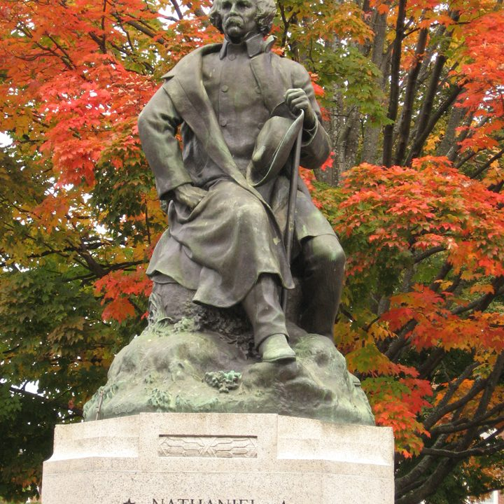 Nathaniel Hawthorne statue — photo courtesy of Teresa Zak