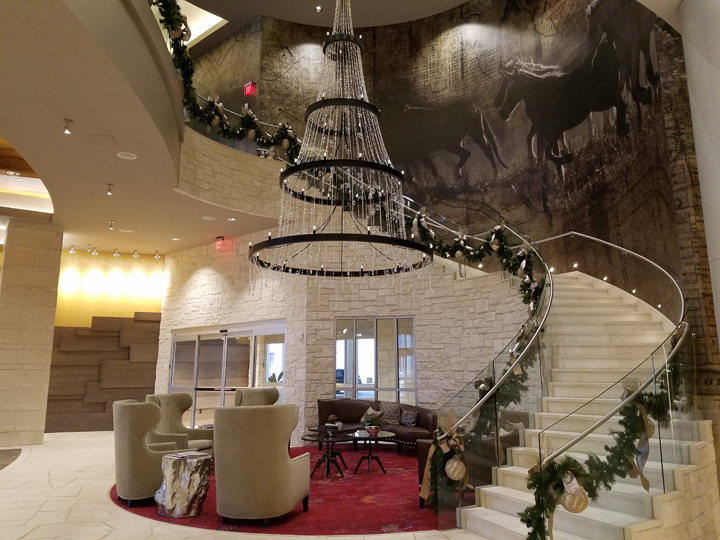 the Grand Staircase at Archer Hotel Austin at Domain NORTHSIDE
