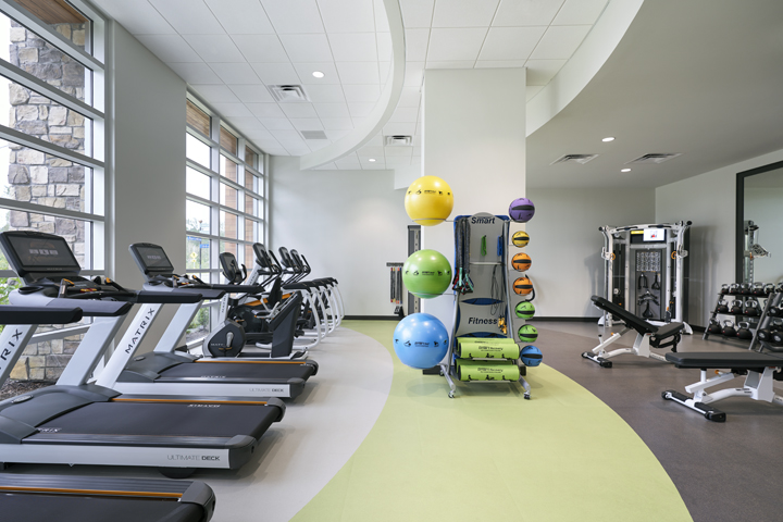 Archer's Fitness Studio, with workout equipment and lots of natural light