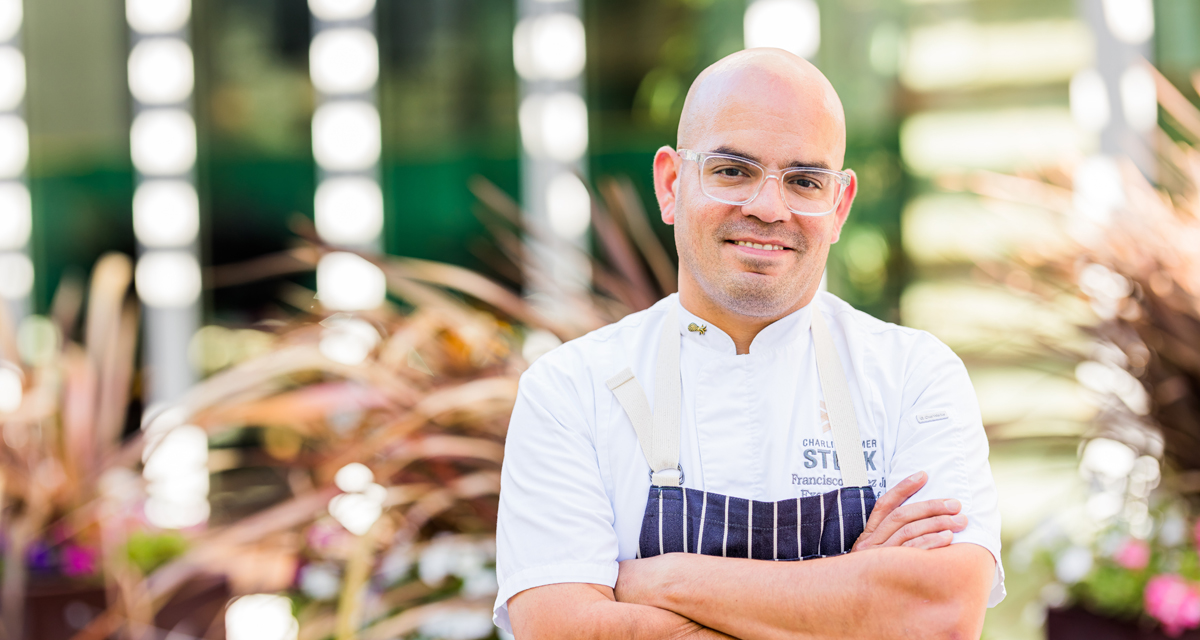 Executive chef Francisco Lopez Jr. — Sky & Vine Rooftop Bar and Charlie Palmer Steak, both at Archer Hotel Napa