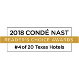 Conde Nast - Readers' Choice Award - 4 out 20 Texas Hotels