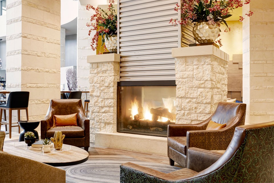 Archer Hotel Austin Fireplace Detail with seating