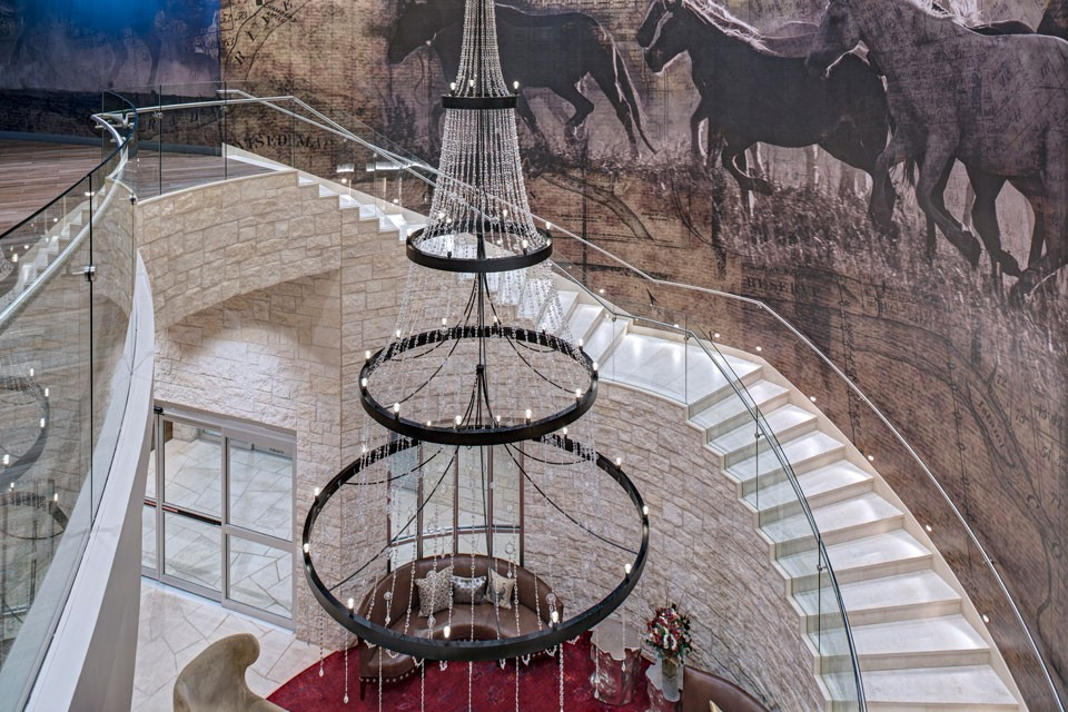 Archer Austin Hotel Chandelier and Grand Staircase Detail