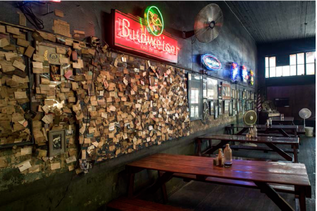 Card Wall at Louie Mueller's BBQ, Taylor, TX, 2011 — Photograph by Wyatt McSpadden