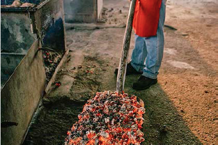 Red Hot Coals, Coopers Old Time Pit BBQ, Llano, TX, 2006 — Photograph by Wyatt McSpadden