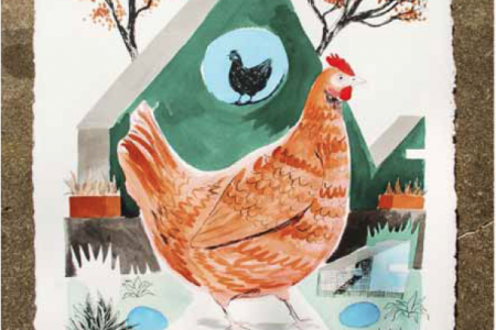 Chicken Coop (Red), 2016 — Illustration by Mike Reddy