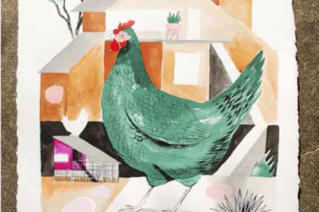 Chicken Coop (Green), 2016 — Illustration by Mike Reddy