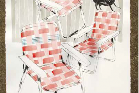 Folding Chairs (Day), 2016 — Illustration by Mike Reddy
