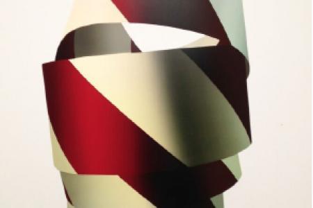 Stacked Ribbon, 2015 — Screenprint by Jeffrey Dell