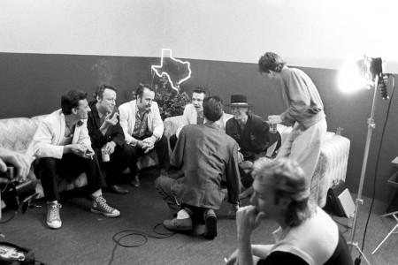 Stevie Ray Vaughan & the Fabulous Thunderbirds Backstage — Photograph by Scott Newton