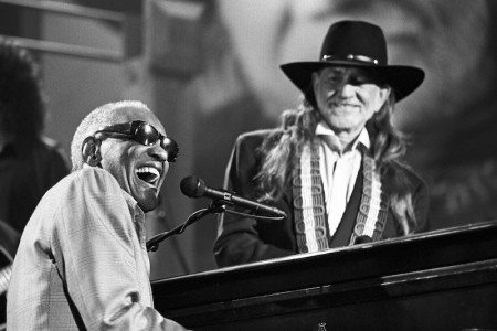 Ray Charles and Willie Nelson Big 60 KLRU Studios, May 1993 — Photograph by Scott Newton