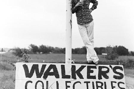 Jerry Jeff Walker outside Austin, TX, on Highway 290, April 1974 — Photograph by Scott Newton