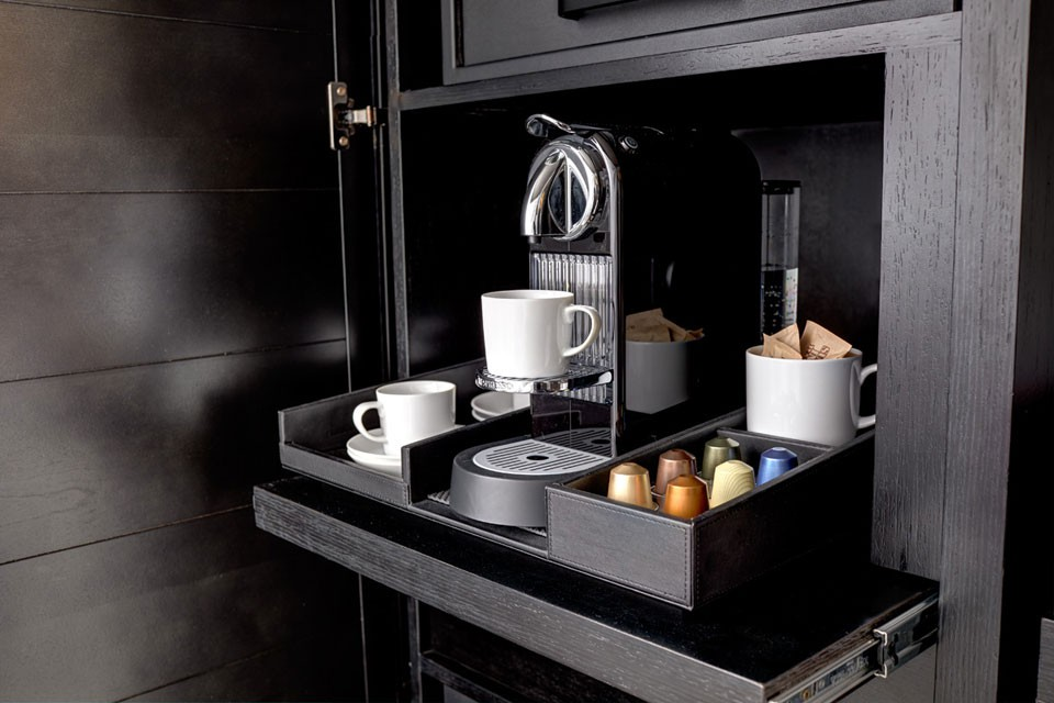 In-room Nespresso coffee experience