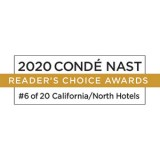 Condé Nast - Readers' Choice Award 2020 - 6 of 20 California/North Hotels