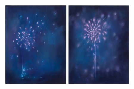 Fourth of July I & II, 2017 — Oil on canvas by Laura Fischman