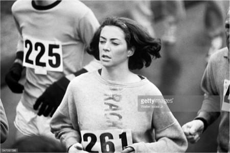 Katherine Switzer, Boston Marathon — Photograph by Unknown