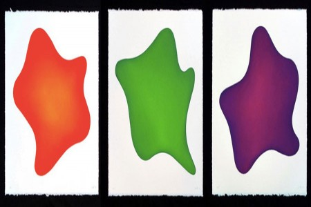 Gyro, 2010 — Suite of three color aquatints with surface roll by Bill Thompson